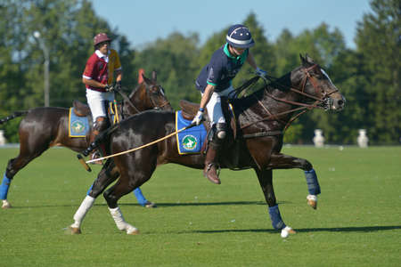 Tseleevo, Moscow region, Russia - July 26, 2014  Match Tseleevo Polo Club - Oxbridge Polo Team during the British Polo Day  Oxbridge won 5-4