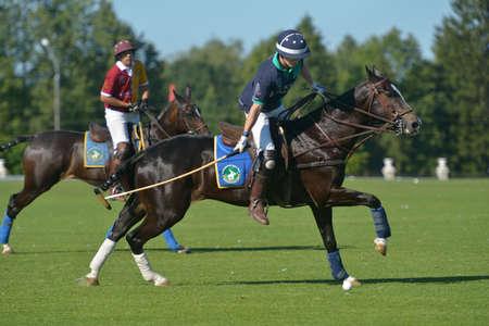 Tseleevo, Moscow region, Russia - July 26, 2014  Match Tseleevo Polo Club - Oxbridge Polo Team during the British Polo Day  Oxbridge won 5-4