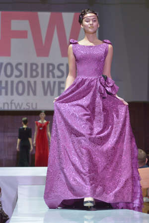 classics: Novosibirsk, Russia - November 15, 2014: Model on the Grand defile of Novosibirsk Fashion Week. The event was held under the motto High Fashion & High Classics Editorial