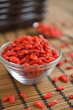 goji berry: Dried Goji berry in a bowl