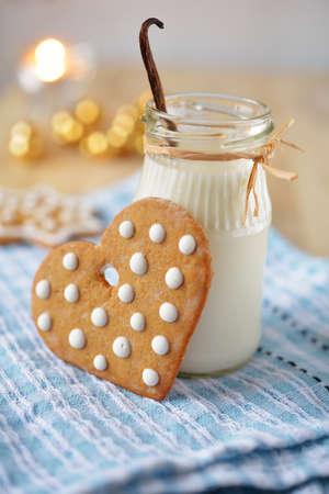 Christmas gingerbread and milk for Santa photo