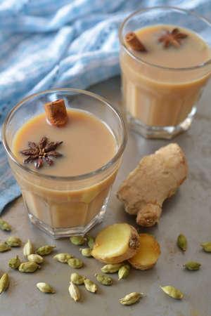 Masala chai tea and spices photo