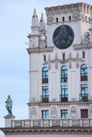 stalin empire style: Building in Stalin empire style near the train station of Minsk, Belarus