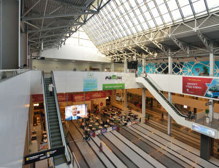 Novosibirsk, Russia - November 16, 2014: Interior of Novosibirsk ExpoCenter. It is the Asian part of Russia largest exposition center
