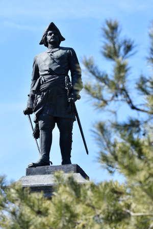 extant: Taganrog, Rusia - 11 de marzo de 2015: Monumento al emperador Pedro el Grande por Mark Antokolsky. Creado en 1898, es el �nico monumento de bronce existente que hizo bajo la direcci�n personal de Antokolsky