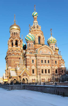 assassinated: St. Petersburg, Russia - January 17, 2013: Church of the Savior on Spilled Blood in a winter day.The Church was built in 1883-1907 on the site where Emperor Alexander II was assassinated Editorial