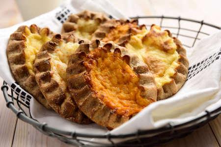 pasty: Karelian pasties with potato, carrot, and rice
