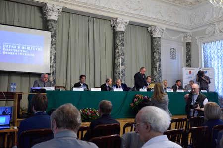 laureates: St. Petersburg Russia  June 22 2015: Plenary thesis during the Saint Petersburg scientific forum