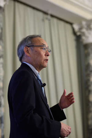 steven: St. Petersburg Russia  June 22 2015: Nobel Prize Laureate in physics Steven Chu during Saint Petersburg scientific forum