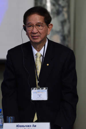 nobel: St. Petersburg Russia  June 22 2015: Nobel Prize Laureate in chemistry Yuan Tseh Lee during Saint Petersburg scientific forum