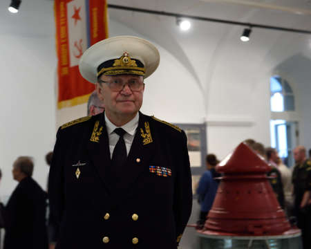 admiral: St. Petersburg Russia  June 24 2015: Admiral Yury Sysuyev on the exhibition Editorial
