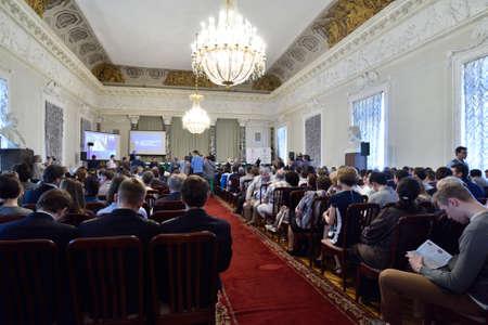 laureate: St. Petersburg Russia  June 22 2015: First day of Saint Petersburg scientific forum Editorial