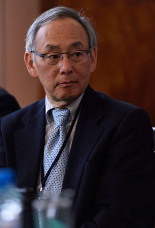 laureate: St. Petersburg Russia  June 22 2015: Nobel Prize Laureate in physics Steven Chu during Saint Petersburg scientific forum