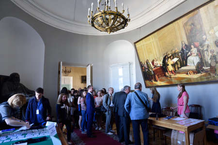 laureates: St. Petersburg, Russia - June 22, 2015: First day of Saint Petersburg scientific forum Nanostructures: physics and technology. Seven Nobel Prize Laureates meet on the forum this year