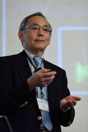 laureate: St. Petersburg, Russia - June 22, 2015: Nobel Prize Laureate in physics Steven Chu during Saint Petersburg scientific forum Nanostructures: physics and technology. Seven Nobel Prize Laureates meet on the forum this year