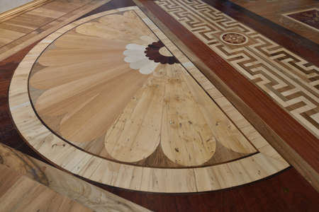marble palace: St. Petersburg, Russia - August 13, 2015: Fragment of flooring in the restored interiors of the Marble Palace. Built in 1768-1785 by design of Antonio Rinaldi, now the palace is the department of Russian Museum