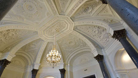marble palace: St. Petersburg, Russia - August 13, 2015: Fragment of restored interiors of the Marble Palace. Built in 1768-1785 by design of Antonio Rinaldi, now the palace is the department of Russian Museum Editorial