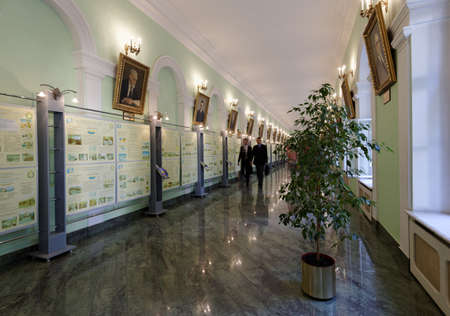 higher education: St. Petersburg, Russia - September 1, 2015: People  in the National Mineral Resources University during the Day of Knowledge. Its the oldest Russian higher education school devoted to engineering