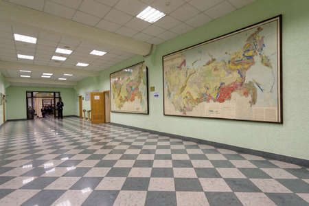 higher education: St. Petersburg, Russia - September 1, 2015: Students  in the National Mineral Resources University during the Day of Knowledge. Its the oldest Russian higher education school devoted to engineering Editorial