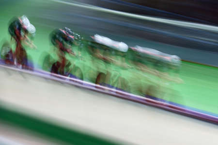 motion blur: Motion blur of track cycling