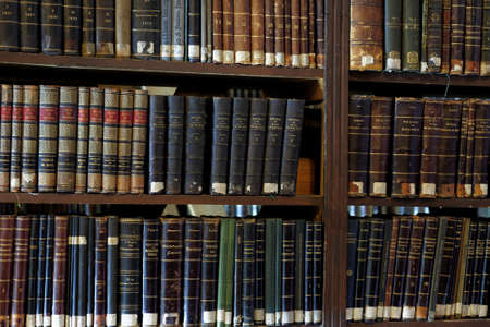 digitization: St. Petersburg, Russia - September 16, 2015: Old books of the collection of St. Petersburg State University�s scientific library. The library started digitization of old books in order to make unique documents available to the public Editorial
