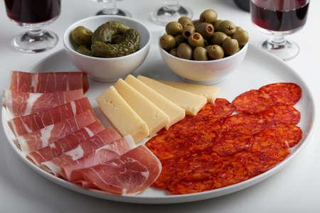 antipasto: Antipasto on a table Stock Photo