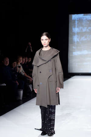 fashion industry: St. Petersburg, Russia - December 5, 2015: Collection of fashion house Harlen at the fashion show during St. Petersburg Fashion Week Overview. The event sums up the year of the city's fashion industry