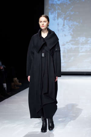 fashion industry: St. Petersburg, Russia - December 5, 2015: Collection of fashion house Harlen at the fashion show during St. Petersburg Fashion Week Overview. The event sums up the year of the city�s fashion industry