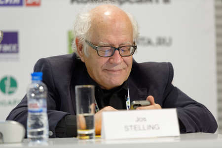 screenwriter: St. Petersburg, Russia - December 14, 2015: Dutch film director and screenwriter Jos Stelling at the conference Films On Big Screen, Restoration And Development during 4th St. Petersburg International Cultural Forum