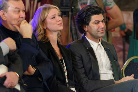 philanthropist: St. Petersburg, Russia - December 14, 2015: Russian ballet dancer and teacher Nikolay Tsiskaridze right during the award ceremony Philanthropist of the Year at the 4th St. Petersburg International Cultural Forum Editorial