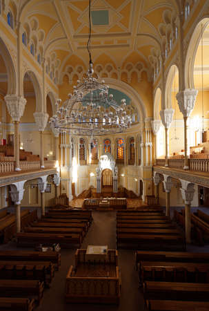 choral: St. Petersburg, Russia - November 5, 2015: Interior of the Grand Choral Synagogue. The synagogue was designed in Moorish style and was consecrated in 1893