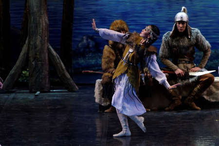 performances: St. Petersburg, Russia - December 14, 2015: Performances of the National Dance Theatre of the Republic of Sakha in the Hermitage Theater during 4th St. Petersburg International Cultural Forum Editorial