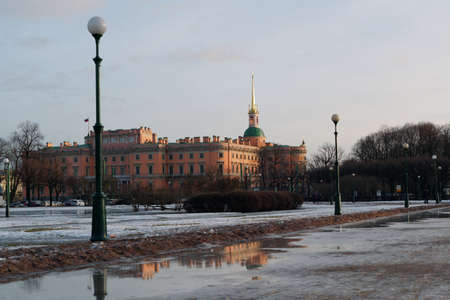 part of me: St. Petersburg, Russia - January 30, 2016: View to the St. Michaels castle. Built in 1797-1801 as the residence of Emperor Paul I, now the castle is the part of Russian Museum Editorial