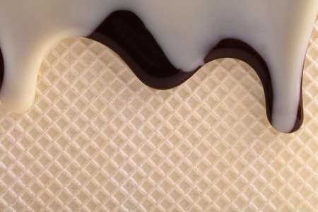 licorice: Wafer with flowing  licorice sauce