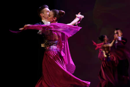 choreographic: St. Petersburg, Russia - March 28, 2016: Young dancers perform at the opening ceremony of X International Festival of Choreographic Art Pari Grand. Artists from 9 countries participated in the festival Editorial