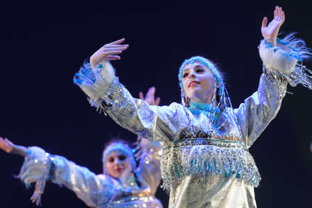 choreographic: St. Petersburg, Russia - March 28, 2016: Dancing group Angels perform at the opening ceremony of X International Festival of Choreographic Art Pari Grand. Artists from 9 countries participated in the festival Editorial