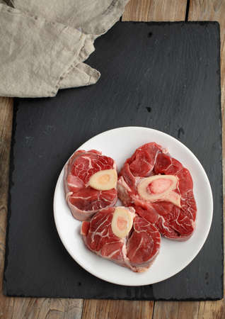 veal: Three cuts of Ossobuco veal shanks