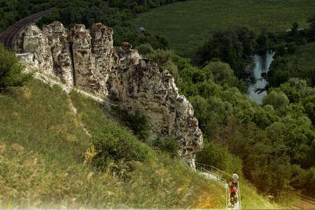 filtered: Filtered image of landscape of Divnogorie, Russia Stock Photo