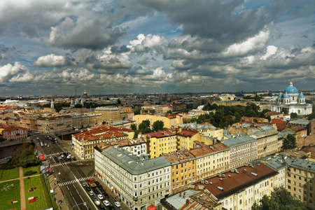 constitute: St. Petersburg, Russia - August 5, 2016: Cityscape with Fontanka river. The Historic Center of Saint Petersburg and Related Groups of Monuments constitute a UNESCO World Heritage Site Editorial