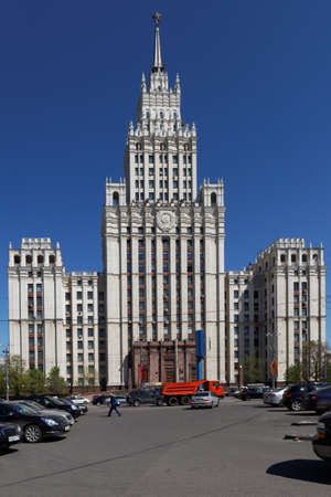 ministry: Moscow, Russia - May 4, 2012: Building of Ministry of Foreign Affairs of Russian Federation. Built in 1948-1953, it is 172 m tall and is one of famous Seven Sisters Editorial