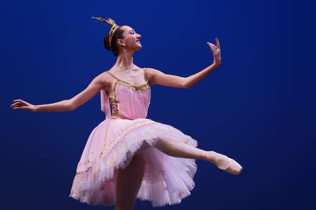 St. Petersburg, Russia - November 16, 2017: Student of Vaganova Ballet Academy performs during anniversary gala concert of Oleg Vinogradov. Great choreographer celebrated his 80th anniversary Editorial