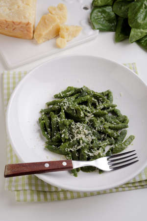Gnocchetti tirolesi with shredded Parmesan cheese