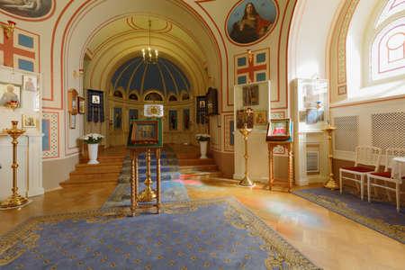 상트 페테르부르크, 러시아 -2011 년 8 월 30 일 : Yusupov 궁전에서 홈 교회의 인테리어. 궁전은 XVIII 세기 후반에 세워졌으며 지금은 상트 페테르부르크 백
