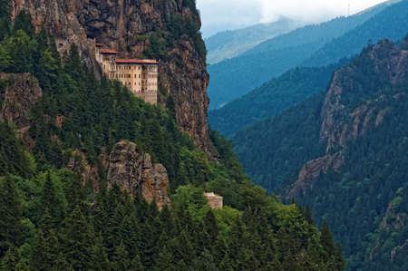 Trabzon, 터키 근처 수 멜라 수도원