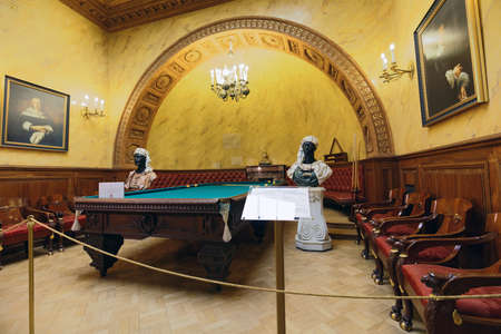 St. Petersburg, Russia - August 30, 2017: Interior of Turkish study in Yusupov palace used by last owner as billiards room. The palace is acclaimed as the Encyclopedia of St. Petersburg aristocratic i 에디토리얼