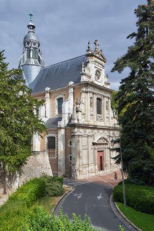 Blois, France - September 11, 2013: Saint-Vincent-de-Paul church in Blois. Built in 1660 as Saint-Louis chapel of Jesuits college, it became a parish church in 19th century Editorial