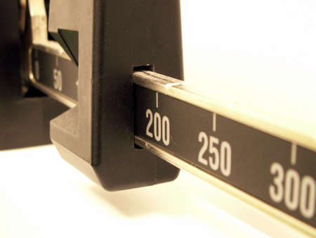macro of a doctors office scale