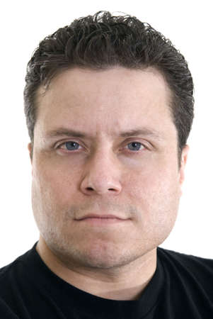 Portrait of a Caucasian male looking at the camera.