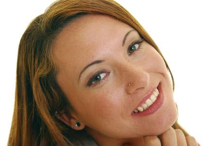 Attractive Caucasian woman smiling. photo