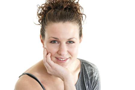 Attractive Caucasian woman smiling. Stock Photo - 6163196